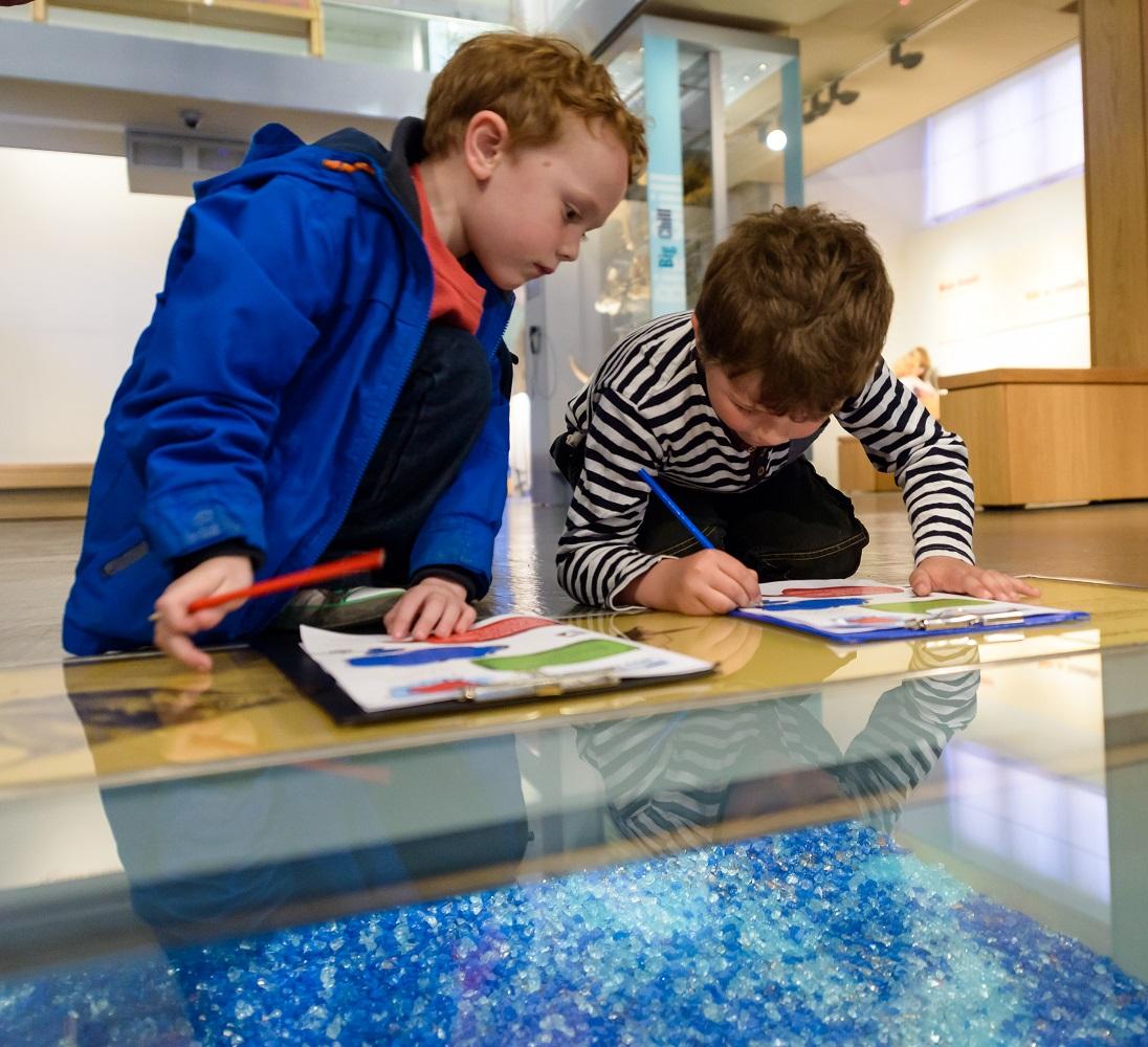 Children doing a Museum trail