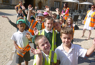 Photo of children on museum visit