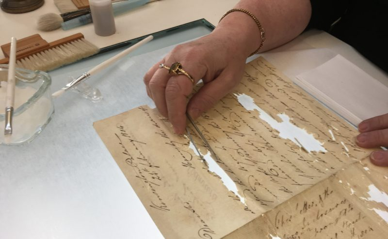 Papers undergoing conservation