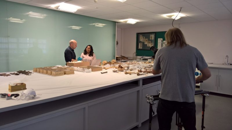 The project was featured on BBC Four's 'Digging for Britain'. Dr Richard Madgwick is pictured with presenter Raksha Dave.