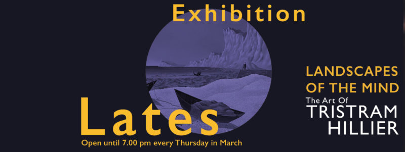 seaside scene poster advertising exhibition lates at the museum
