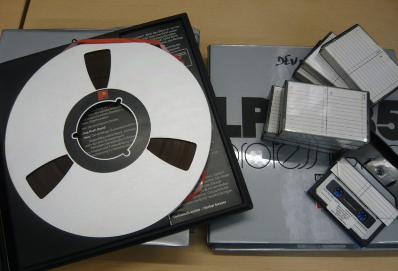 Magnetic Tapes and Casettes from Devon Archives
